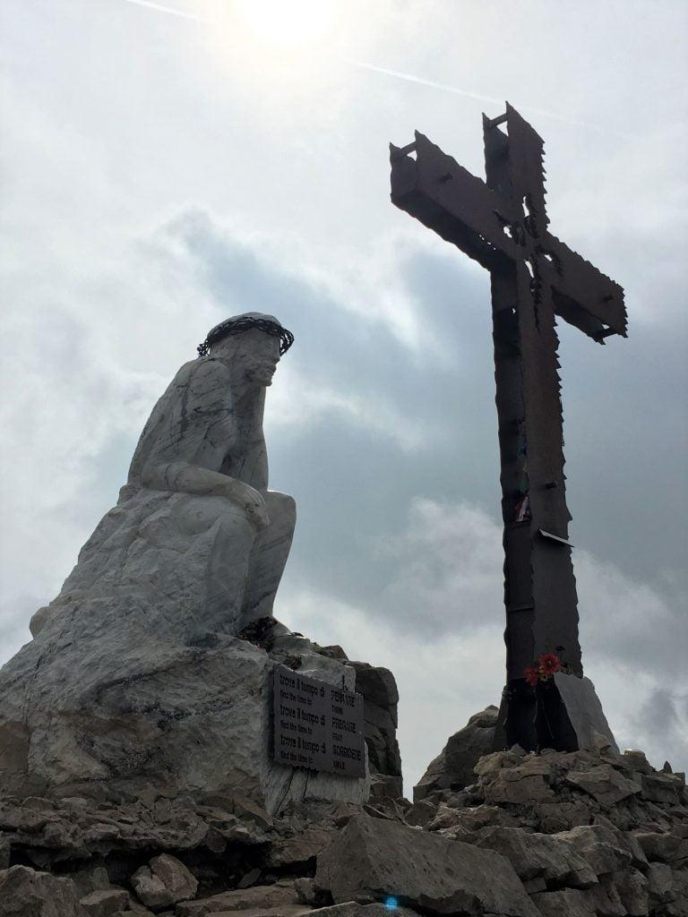Statua Cristo Pensante Val di Fiemme