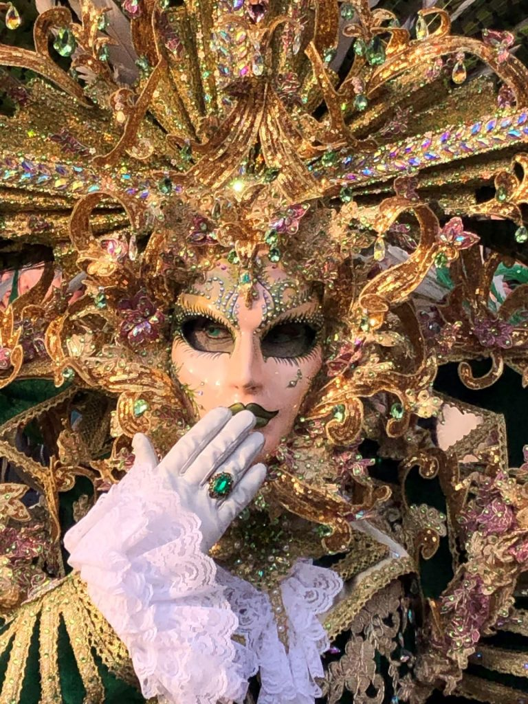 Carnevale di Venezia, dettaglio maschera