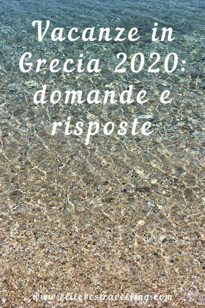 Vacanze in Grecia 2020: domande e risposte 3