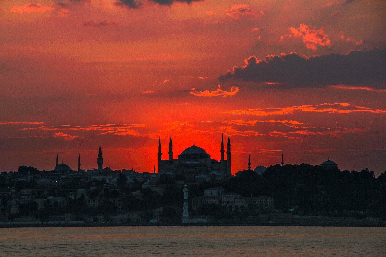Santa Sofia al tramonto