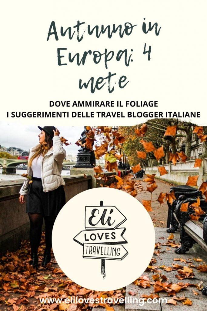 Dove andare in autunno in Europa per ammirare il foliage 2