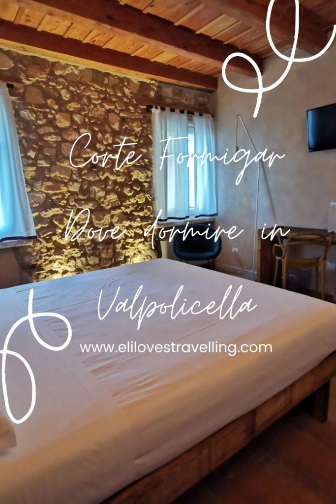 Grafica Pinterest_dove dormire in Valpolicella_Corte Formigar_Stanza Vigna