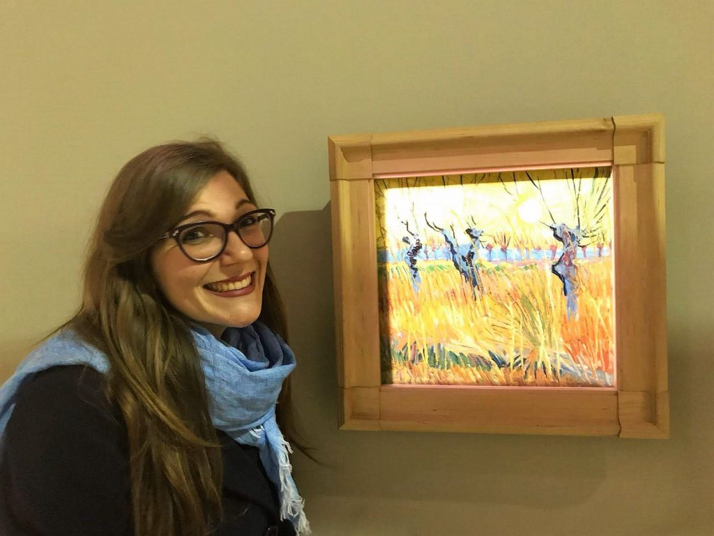 Martina con Vincent van Gogh