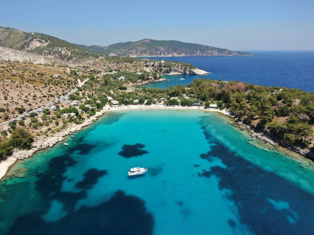 Isola di Taso Grecia mare cristallino