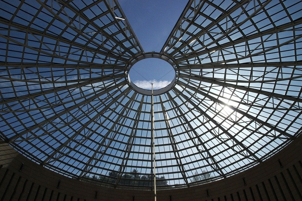Mart Rovereto_cupola di vetro e acciaio
