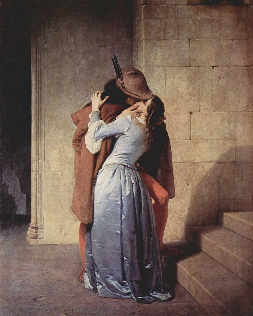 Opera il bacio di Hayes, tra amore e arte