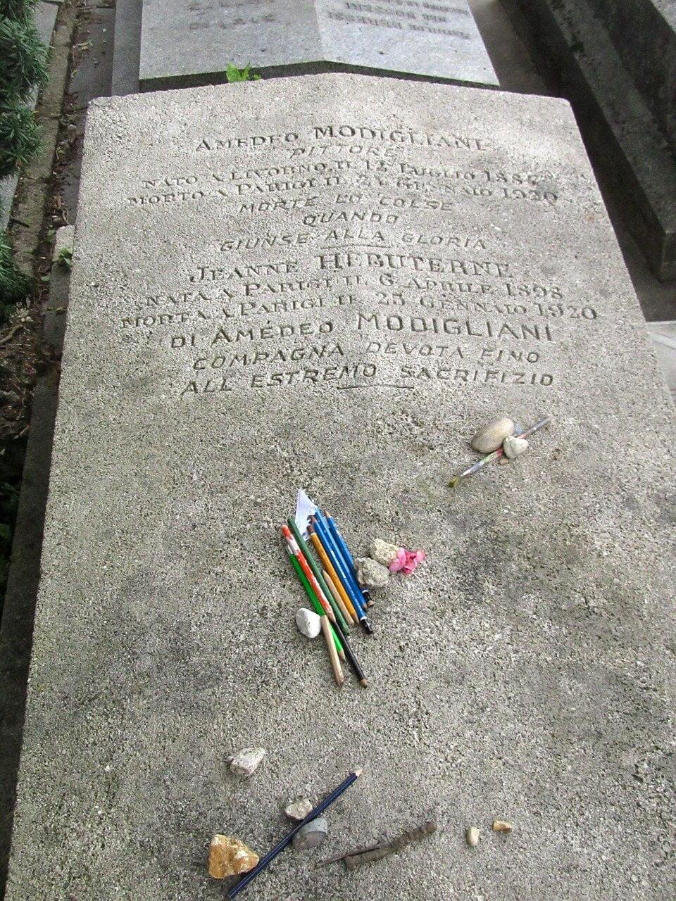 Tomba di Amedeo Modigliani a Parigi