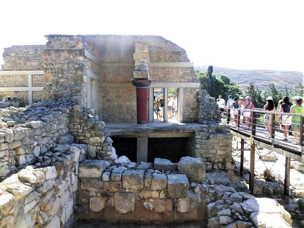 rovine del palazzo di cnosso creta