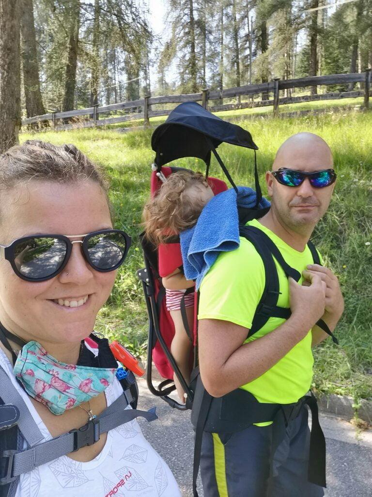 Elisa, Sofia e Michele_escursione Val di Fiemme