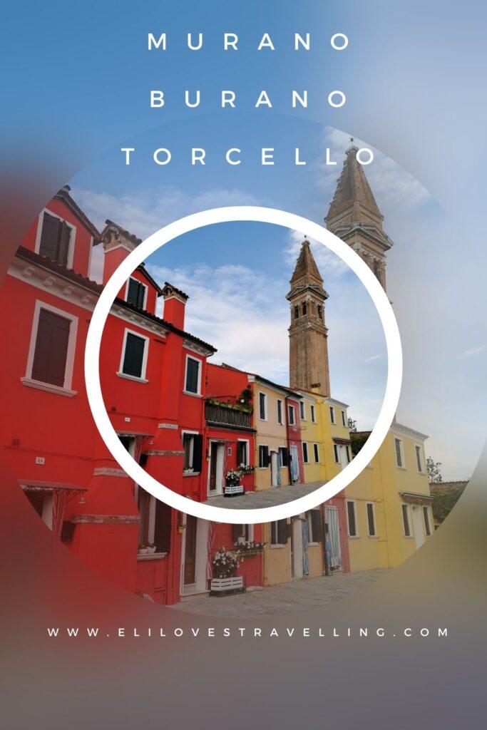 Grafica Pinterest Murano Burano e Torcello