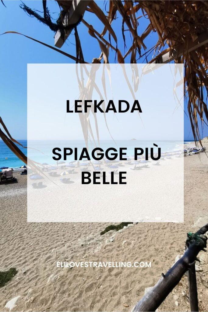 Lefkada spiagge più belle grafica pinterest
