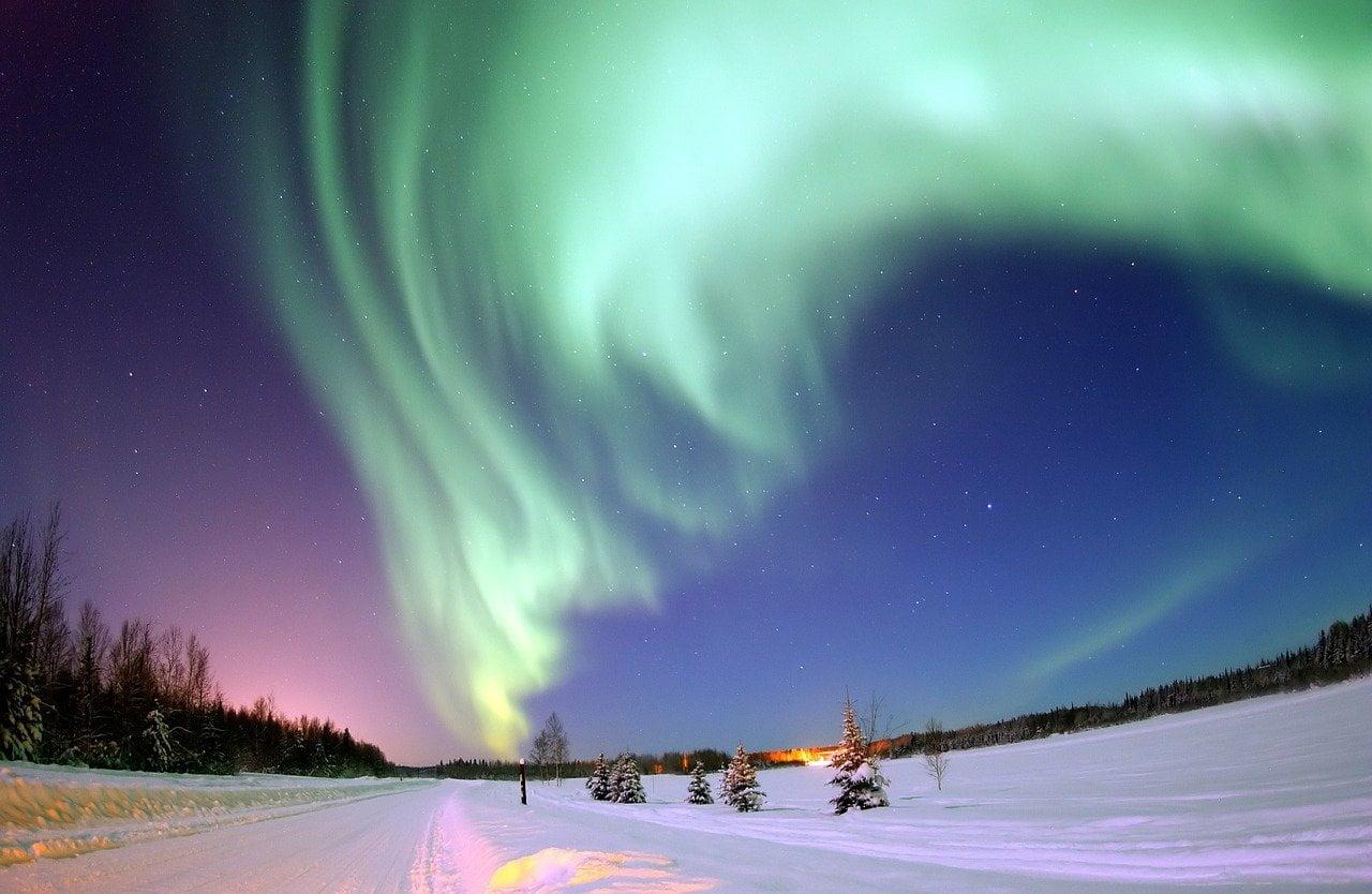 aurore boreali in coppia